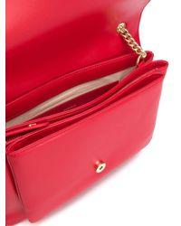 Borsa A Spalla Love Big Soft Simply Rossa di Pinko in Red