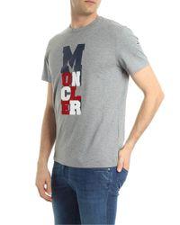 Moncler Gray Maglia Logo Tee for men