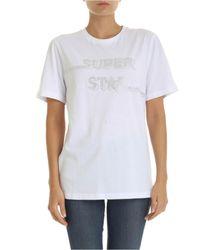 T-shirt bianca stampa Super Star di P.A.R.O.S.H. in White
