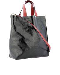 Shopper Museum Soft Nera di Marni in Black