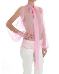 N°21 - Women's Pink Silk Blouse - Lyst