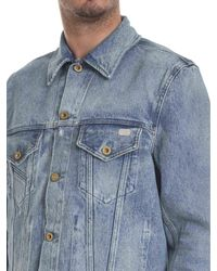 DIESEL Blue Cotton Outerwear Jacket for men