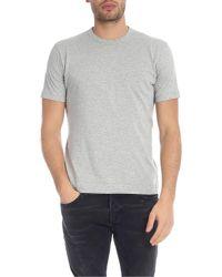Comme des Garçons Crew-neck T-shirt In Melange Gray for men