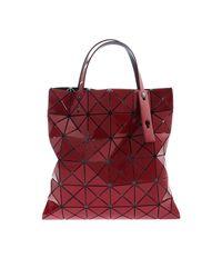 Bao Bao Issey Miyake Red Lucent Metallic Bag