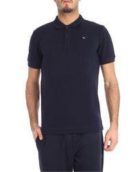 McQ Alexander McQueen Blue Polo Shirt With Black Trim for men