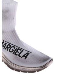 Maison Margiela White Raw Development Sock Sneakers By for men