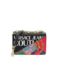 Versace Jeans Black White Logo Shoulder Bag
