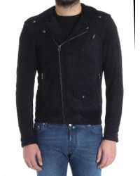 Salvatore Santoro - Blue Suede Jacket for Men - Lyst