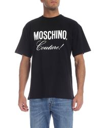 T-Shirt Nera Couture di Moschino in Black da Uomo