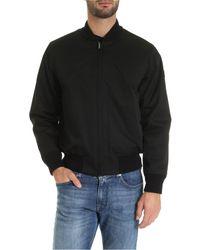 Woolrich Black Wool Detail Reversible Jacket for men