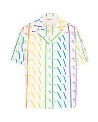 Valentino White Vltn Times Multicolor Shirt for men
