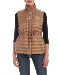 Gilet Azur Beige di Moncler in Natural
