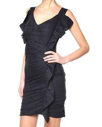 Étoile Isabel Marant - Black Topaz Dress With Ruffles - Lyst