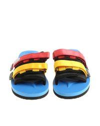 Suicoke Blue Multicolor Slides for men