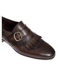 Santoni - Brown Monk Shoes for Men - Lyst