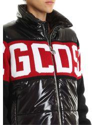 Piumino Nero Con Logo di Gcds in Black