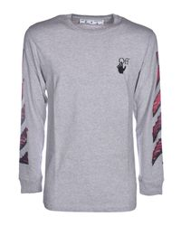 T-Shirt Marker Grigio Melange di Off-White c/o Virgil Abloh in Gray da Uomo