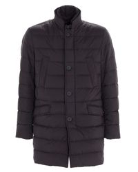 Herno Gray Quilted Down Jacket for men