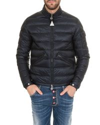Moncler Agay Down Jacket In Navy Blue for men