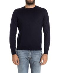 Drumohr - Blue Cashmere And Silk Sweater for Men - Lyst