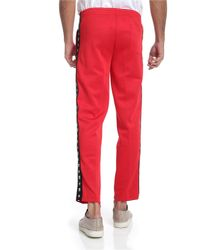 Hydrogen Red Pants With Branded Stripes for men