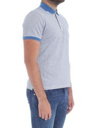 Jacob Cohen Blue Checked Pattern Polo for men