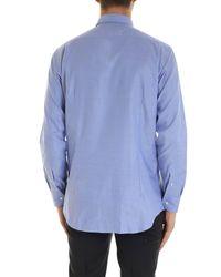 Etro Oxford Shirt In Light Blue Color for men