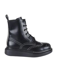 Alexander McQueen Black Hybrid Ankle Boots