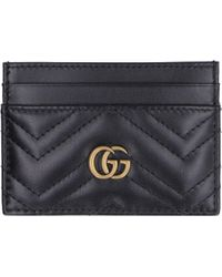 Gucci Black GG Marmont Leather Card Holder