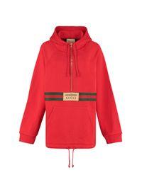 Gucci Red Full Zip Hoodie