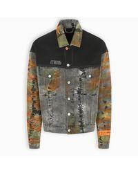 Heron Preston Multicolor Tie-dye Denim Jacket for men