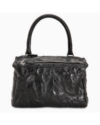 Borsa Pandora piccola in pelle invecchiata di Givenchy in Black