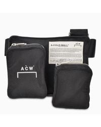 A_COLD_WALL* * Black Multi Pockets Bumbag for men