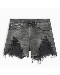 Pantaloncino in denim nero di R13 in Black