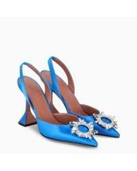 AMINA MUADDI Light-blue Begum Sling Pumps