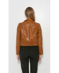 Helmut Lang - Brown Patch Pocket Leather Jacket - Lyst