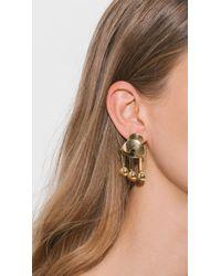 Lizzie Fortunato - Metallic Temple Earrings - Lyst