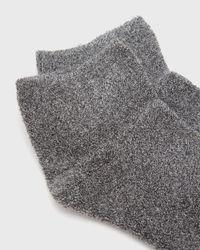 Baserange - Gray Buckle Ankle Socks - Lyst