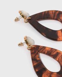 Lizzie Fortunato - Multicolor Tortoise Teardrop Earrings - Lyst