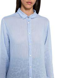 Camicia Effetto Stropicciato di Forte Forte in Blue