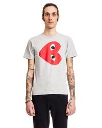 T-Shirt Logo di COMME DES GARÇONS PLAY in Multicolor