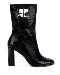 Courreges Black Two-tone Leather Half Boot