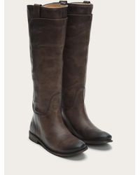 Frye - Gray Paige Tall Riding - Lyst