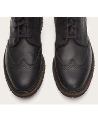 Frye - Black James Lug Wingtip Boot for Men - Lyst