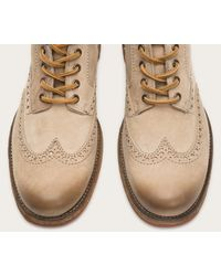 Frye - Gray Phillip Lug Wingtip Chukka for Men - Lyst