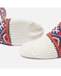Anonymous Ism White Estonian Jacquard Socks for men