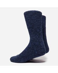 Norse Projects Blue Ebbe Thick Wool Socks for men