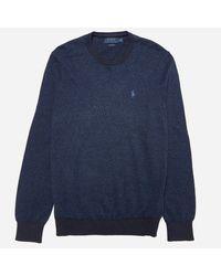 Polo Ralph Lauren Blue Pima Cotton Knit for men