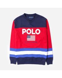 Polo Ralph Lauren Blue Magic Fleece Sweatshirt for men