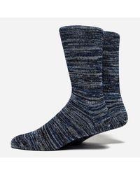 Folk - Blue Melange Socks for Men - Lyst